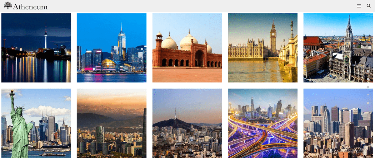 Images showing the 10 cities where Atheneum has offices